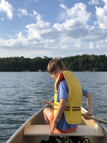 Andrew in the Canoe
