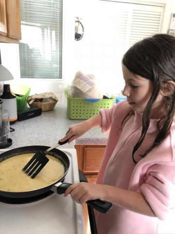 Annabelle Making Scrambled Eggs