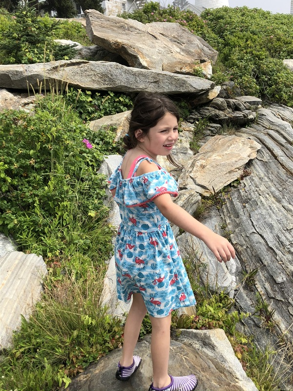 Annabelle at Pemaquid Point Lighthouse