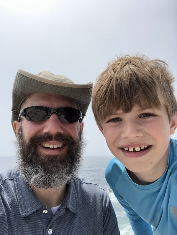 Dad and Andrew at Pemaquid Point Lighthouse